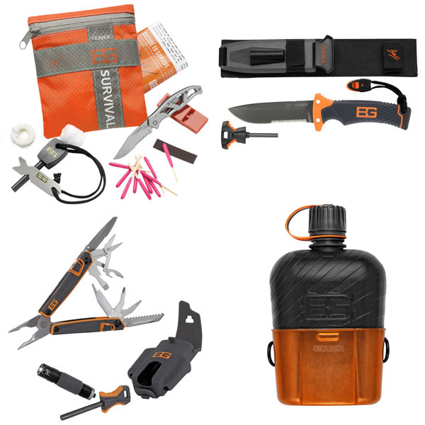 Featured products from the Bear Grylls survival collection at Year Zero Survival