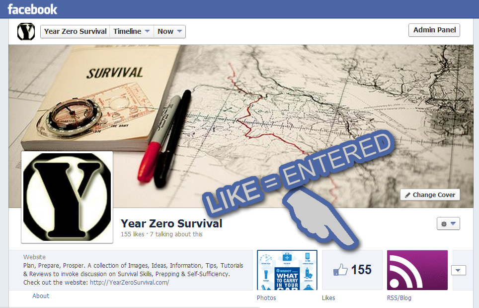 Like our Facebook Page and be automatically entered to when the May 2013 Giveaway