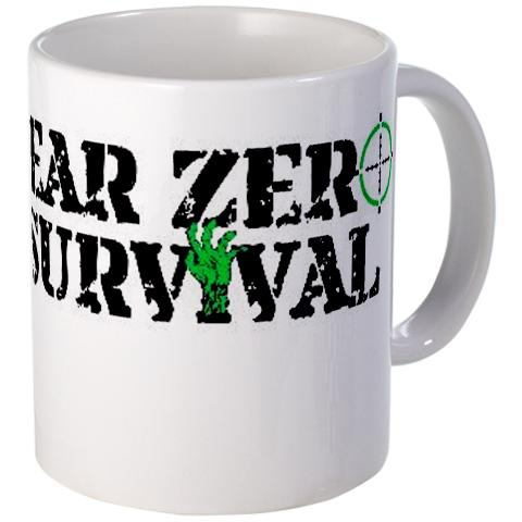 The official Year Zero Survival logo mug, t-shirt design.