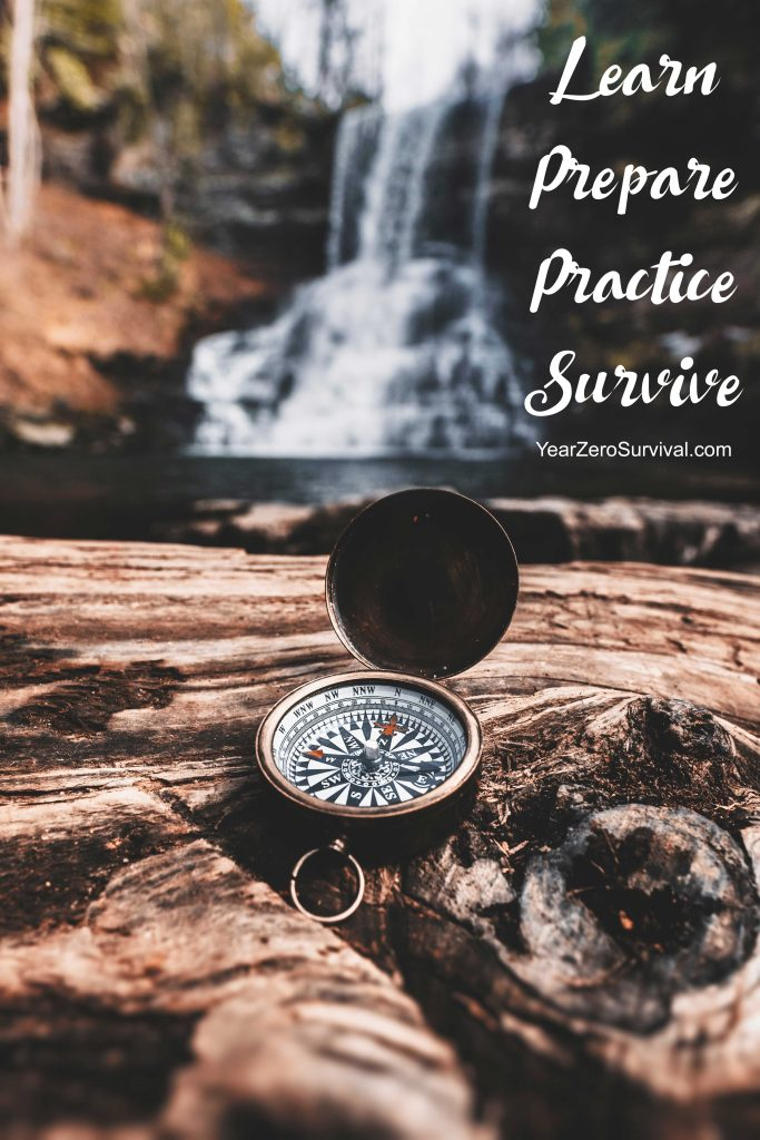 Learn Prepare Practice Survive - gain skills at YearZeroSurvival.com