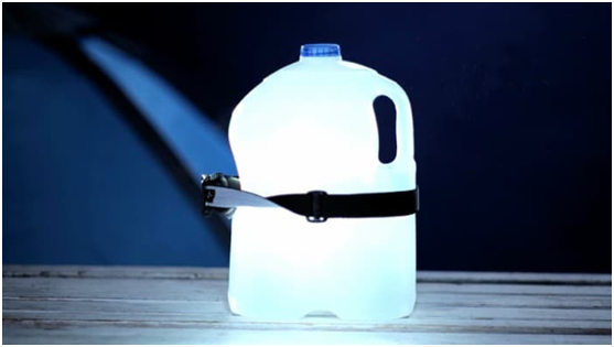 Camping Hack #2 Light up Your Tent with a Water Bottle Lantern