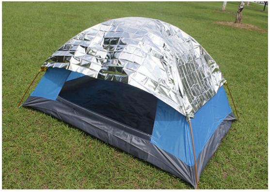 Camping Hack #13 Stop Stifling Hot Mornings with an Emergency Blanket