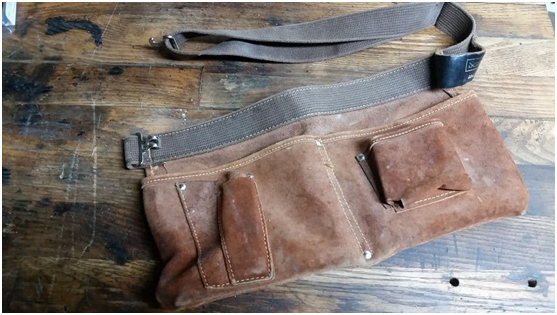 Camping Hack #17 Use an Old Tool Belt to Keep your Camping Essentials Organized