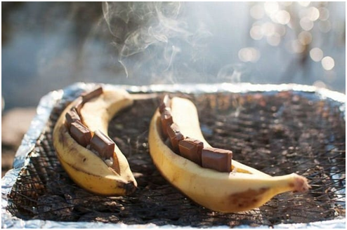 Camping Hack #7 Satisfy Your Sweet Tooth with this Banana + Mars Bar Dessert