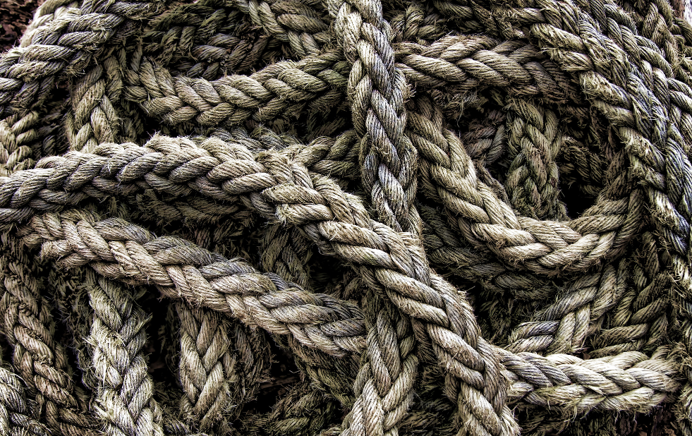 Bundle of brown rope